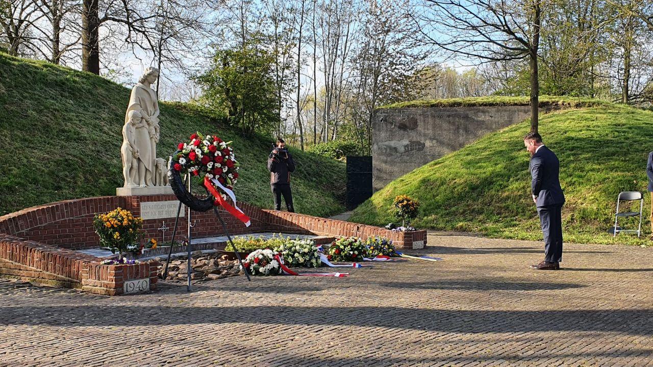 Sobere herdenking Fort De Bilt zonder publiek